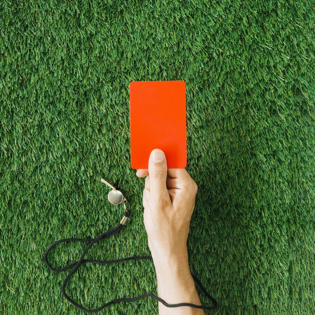 כרטיס אדום - עונש
